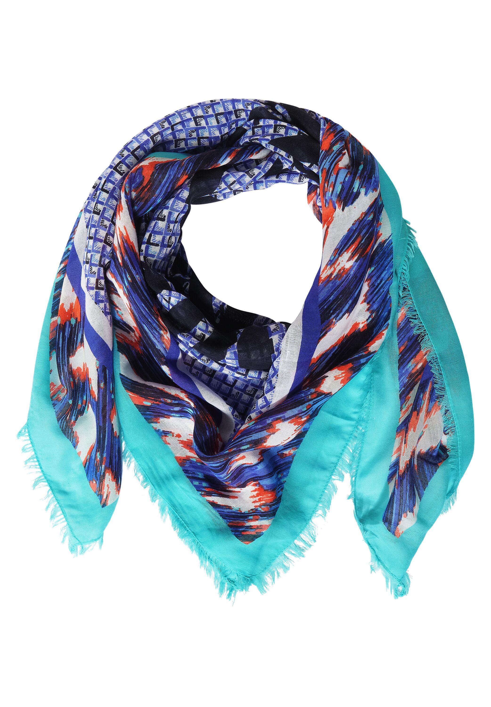 Schal mit Ikat Print