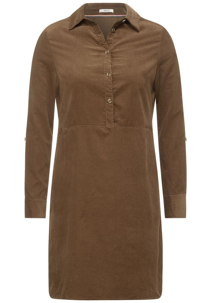 Cord Kleid in Unifarbe