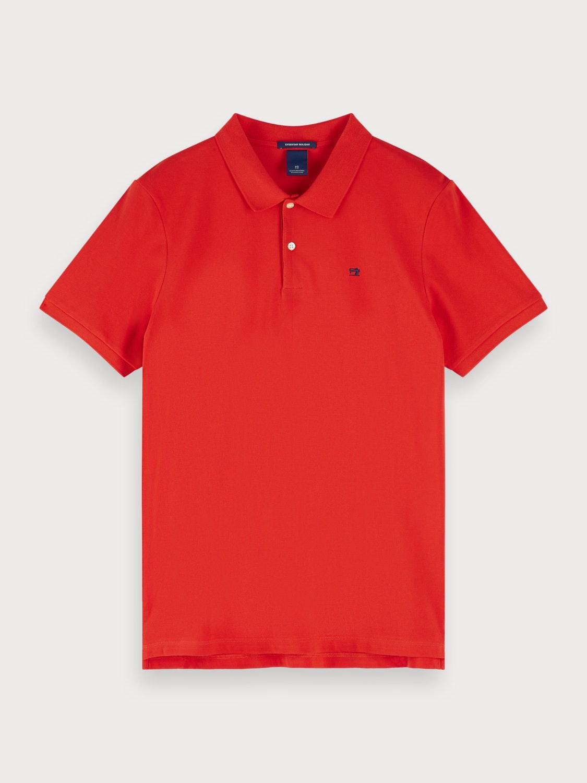 Klassisches Poloshirt aus Baumwoll-Piqué