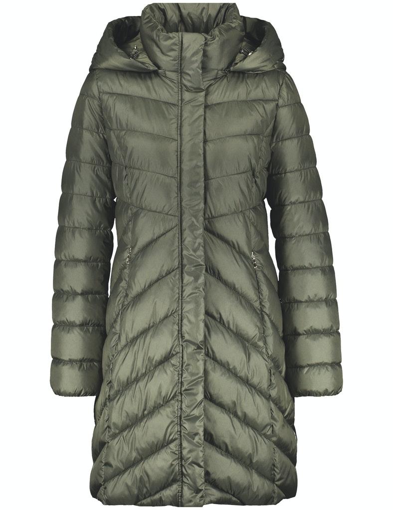 Mantel mit Zick-Zack Stepp