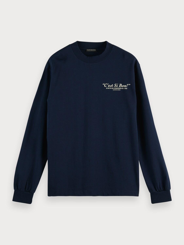 Organic cotton-jersey longsleeve artwork tee