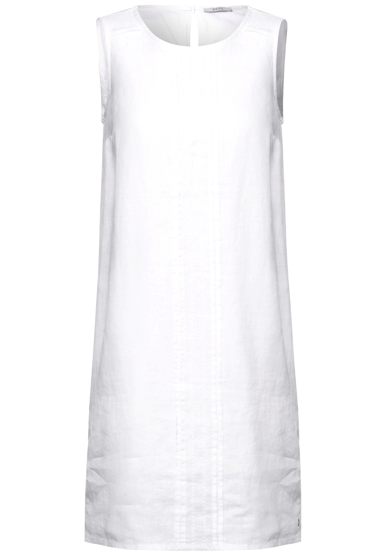 Leinen Kleid in Unifarbe