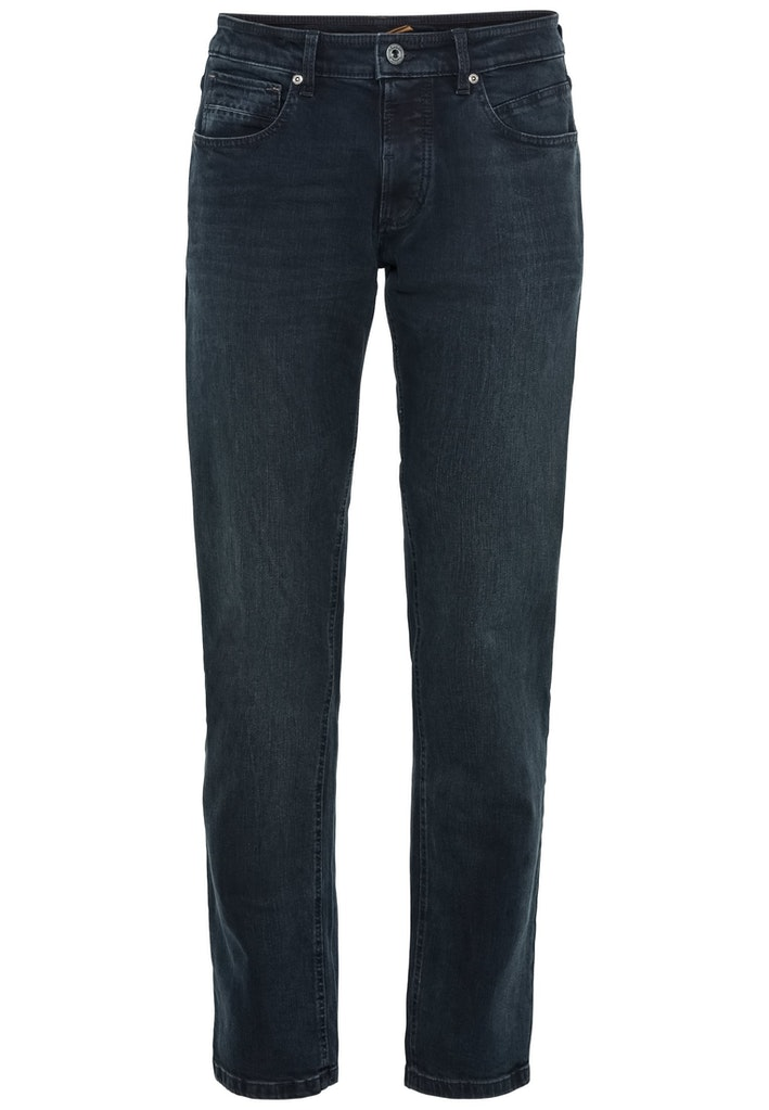 Relaxed Fit Jeans mit leichten Used-Effekten