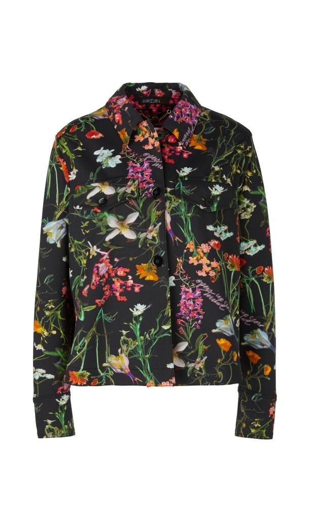 Bedruckte Hemdjacke aus Scuba Jersey