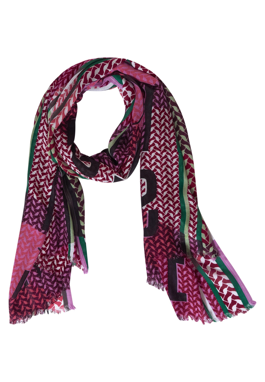 Schal mit Multicolour-Print