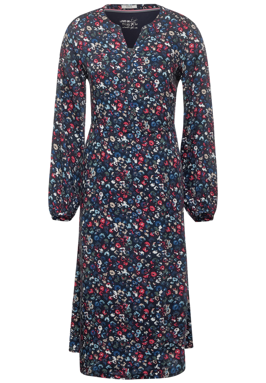 Midi-Kleid mit Blumen